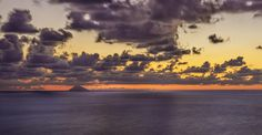 Amazing #sunset off of #calabria's costs. #summer #volcano #stromboli #eolie #island #orance #clouds #drama #sea #panorama #landscape #pizzo #nikon #hdr #postprocessing