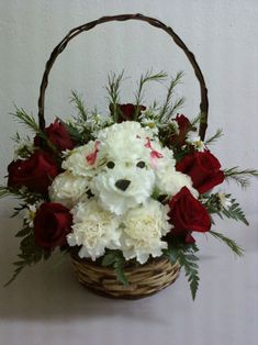 Flower dog. This is the cutest idea for Flower Girl