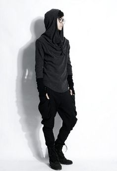 read my faq Mori Fashion, Gothic Fashion, Urban Fashion, Post Apocalypse, Casual Outfits, Men Casual, Fashion Outfits, Japanese Models, Hooded Sweater