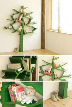 A necessity for my future home. I love trees, birds, books, and now I love a tree/bird/bookshelf