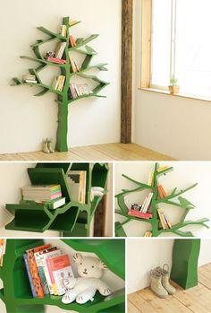 A necessity for my future home. I love trees, birds, books, and now I love a tree/bird/bookshelf
