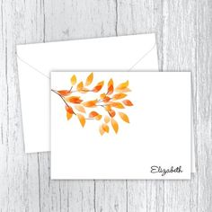 Personalized note cards are a great gift for birthdays, Christmas or just because. Golden Leaves, Personalized Note Cards, Birthday Gifts, Great Gifts, Birthdays, Notes, Printed, Christmas, Birthday Presents