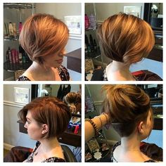 women's undercut layered bob - Google Search