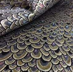 Wholesale cheap brocade dress product type -metallic peacock jacquard brocade dress fabric cloth meter tecido ,dress overcoat jacket home decor upholstery sewing material from Chinese fabric supplier - garden1001 on DHgate.com.