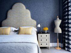 Nest by Tamara: Travel Column: The New Whitby Hotel in New York City Headboard Shapes, Headboard Ideas, Casa Milano, Soho Hotel, Hotel Interiors, Blue Interiors, Bedroom Images, Tiny Spaces, Lounge Areas