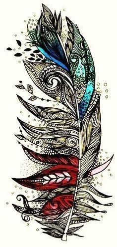 Gorgeous feather tattoo