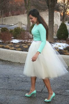 mint outfit with tulle... Lovelovelove