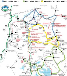 Please click on the map below for a detail description of each of the White Mountains (NH, US) Trails