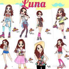 Luna en todas las partes de su vida