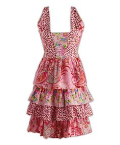 Another great find on #zulily! Pink Floral Ruffle Apron #zulilyfinds