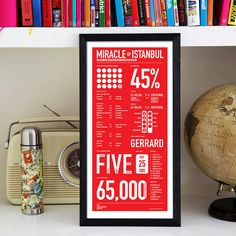 liverpool: miracle of istanbul by the beautiful game | notonthehighstreet.com