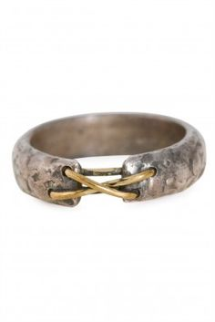 Tobias Wistisen Narrow Stitch Ring - Silver