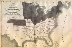 This is an original and incredible 1861 map showing the Mason Dixon Line.  Northern States are shaded dark, and Southern States are light.