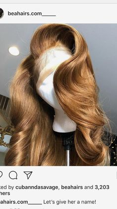 This is a color I'm thinking of for my bday look Love Hair, Gorgeous Hair, Weave Hairstyles, Pretty Hairstyles, Curly Hair Styles, Natural Hair Styles, Hair Laid, Hair Looks, Dyed Hair