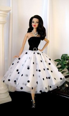 BArbie Polkha Dots NEt Dress