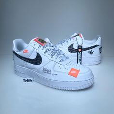 dfd0732919 Details about Nike Air Force 1 One Low 07 PRM JDI Just Do It White Black  Orange AF1 AR7719 100
