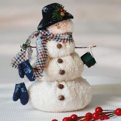 *SNOWMAN ~ terry-cloth snowman with