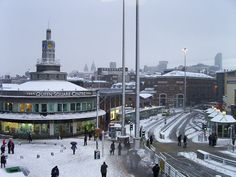 Readers' snow pictures: photos of winter weather in Britain sent in by Telegraph readers Liverpool Home, Snow Pictures, Bus Station, Picture Photo, Britain, Queens, Street View, Weather, Building