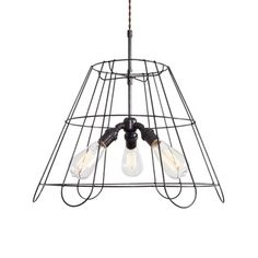 Industrial Lampshade Chandelier