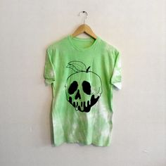 Disney Inspired Snow Whites Apple Skull Unisex Green T-shirt Pastel Colour Washed Green Hipster Indie Swag Dope Hype Mens Womens by IIMVCLOTHING on Etsy