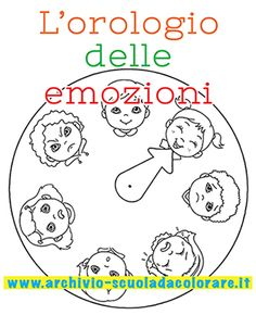 L'orologio delle emozioni da colorare: un'attività per insegnare ai vostri bambini ad interpretare e accettare i cambi di umore. Impara ad imparare. #sviluppocognitivo Autism Activities, English Activities, Montessori Activities, Craft Activities For Kids, Educational Activities, Book Activities, English Fun, English Book, Preschool Lessons