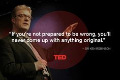 Ken Robinson says 'Schools kill creativity' in this ground breaking TED Talk Ken Robinson, Quotable Quotes, Motivational Quotes, Inspirational Quotes, Rumi Quotes, Faith Quotes, Ted Talks, Talking Quotes, Thats The Way