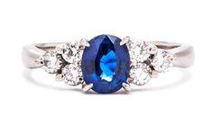 antique diamond surround | Vintage Engagement Ring & Antique Jewelry Blog by Trumpet & Horn