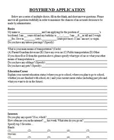 application for permission to date my daughter future boyfriend  boyfriend application pt 1