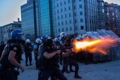Police responded at dusk with water cannon and tear gas. The violence began two...