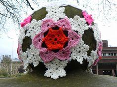 yarn bombing at St Peter's Church in Wolverhampton