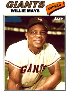This is an image of Willie Mays, a center fielder for the San Francisco Giants. Willie Mays is considered to be one of the greatest players ever with a lifetime average of with 660 Home Runs and 1903 RBIs. But Football, Baseball Star, Giants Baseball, Baseball Photos, Sports Baseball, Sports Photos, Baseball Players, Basketball, Baseball Games
