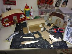 Crafts - The Mouse Mansion - The making of