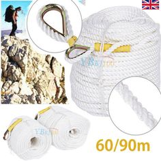#60/90m tree rock #climbing safety sling rappelling rope auxiliary cord #equipmen,  View more on the LINK: http://www.zeppy.io/product/gb/2/331898609769/