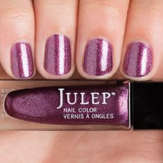 Julep - Ariana (Classic with a Twist): Enchanted berry iridescent chrome