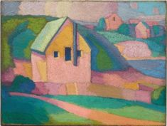 Syncromy in orange major, Roland Wakelin, Australia, 1887 - harmonies' - tiny chromatic experiments without precedent in Australian painting. Older by . Australian Painting, Australian Artists, Museum Of Contemporary Art, Contemporary Landscape, Landscape Paintings, Landscapes, Plein Air, House Painting, Art Google