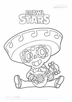 coloring page Poco Brawl Stars on Kids-n-Fun. At Kids-n-Fun you will always find the nicest coloring pages first! Star Coloring Pages, Boy Coloring, Cartoon Coloring Pages, Coloring Pages For Kids, Coloring Books, Red Knight Fortnite, Blow Stars, Birthday Background Design, Star Wallpaper