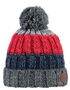 Barts - Grey blue red striped Wilhelm hat - Pepatino.be