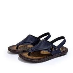 9e92231e9f8502 Mens Casual Beach Thong Style Slippers Trendy Sandals