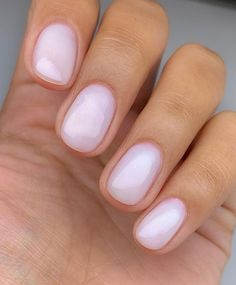 Dream Nails, Love Nails, How To Do Nails, Pretty Nails, Manicure Y Pedicure, Gel Nails, Shellac, Manicures, Milky Nails