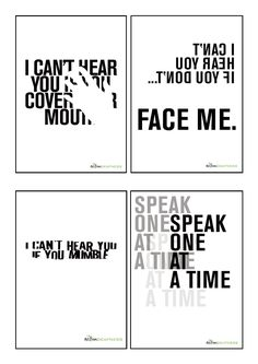 A set of 4 different A3 size high resolution posters which raise awareness of deafness, and include communication tips. These eye catching posters  would be ideal to display in your office, encouraging staff to think about the needs of deaf people, starting discussions within your workplace, and they're great reminders for Deaf Awareness Week!  170 gsm