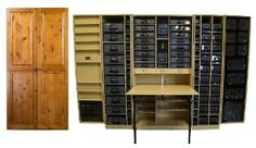 Original Scrapbox Workbox Knotty Alder Raised Panel - on Amazon.com by TowelRACKED