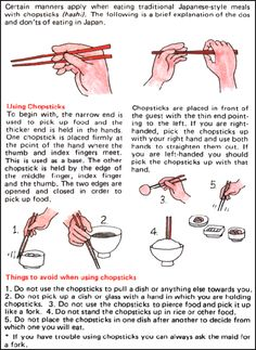 How to use chopsticks properly. Dining etiquette. #infographics