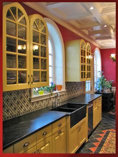 Cabinets And Hardware Spanish Revival Kitchen Mediterranean Style Homes