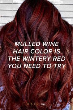 We've seen this hair color trend building for some time now, incorporating the best of deep red and burgundy shades into a beautifully nuanced ruby color. Fall Red Hair, Red Brown Hair, Ruby Red Hair, Fall Hair Colors, Deep Burgundy Hair Color, Black Cherry Hair Color, Hair Color For Black Hair, Deep Auburn Hair, Dark Auburn Hair Color