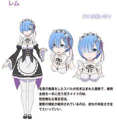 Re-Zero-Kara-Hajimeru-Isekai-Seikatsu-anime-personajes-Rem.jpg - Re Zero Character Model Sheet, Character Modeling, Character Concept, Concept Art, Character Design, Lolis Anime, Anime Maid, Anime Comics, Rem Re Zero