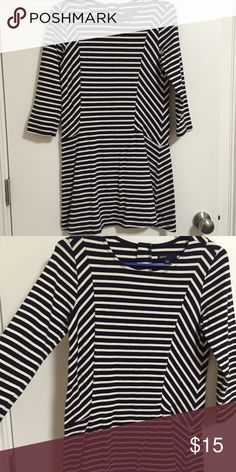 Gap Kids Stripped dress White and Blue 3/4 length of sleeves (XXL kids like a XS ADULT) brand new GAP Dresses