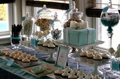 Tiffany blue table