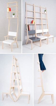 chair shelf ladders by Seung Yong Song
