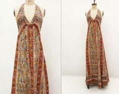 ViNtAgE 70's INDIAN Cotton Dress // Bohemian by hellhoundvintage