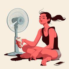 Summer weekend by Jungyoun Kim, via Behance